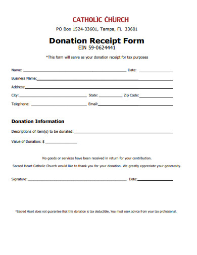 include charity organization name and information