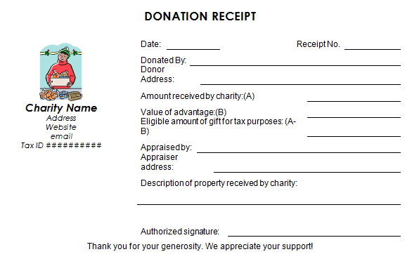 Donation form with appraiser